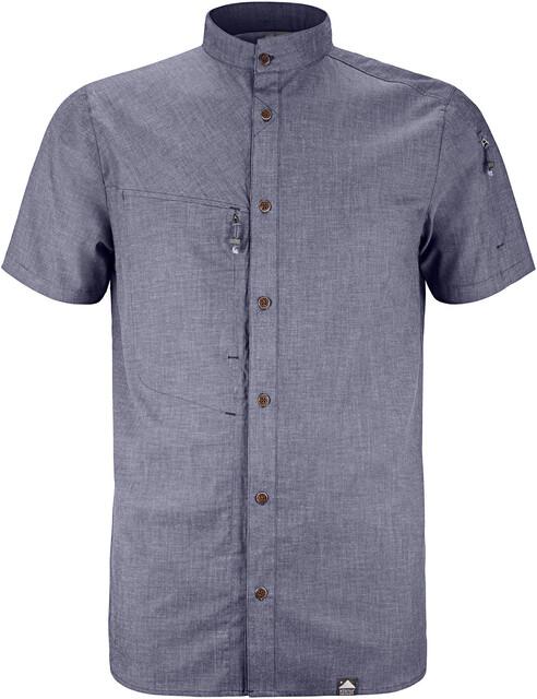 Klättermusen M's Lofn SS Shirt Storm Blå Melange
